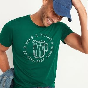 Mens ST PATTYS DAY ribbed knit crew neck shirt